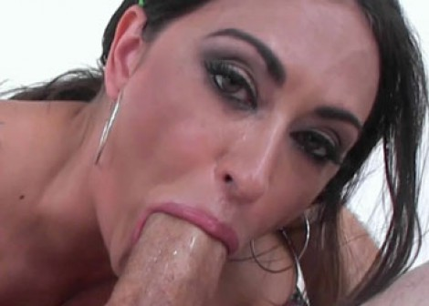 Hot MILF Claudia swallows a big dick